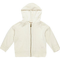 Mini girls white hoodie