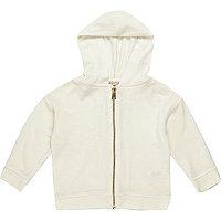 Mini girls white hoodie