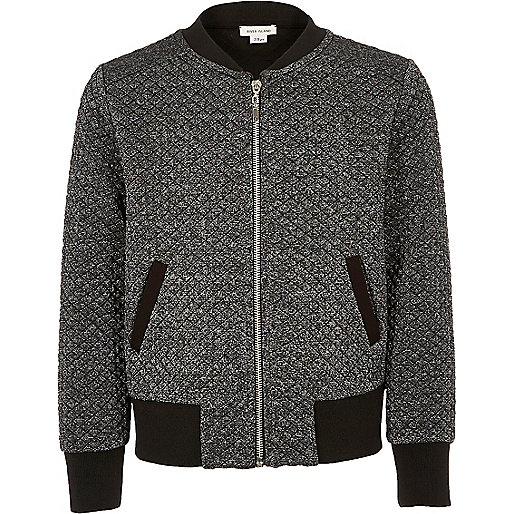 Bomberjacke in Grau-Metallic