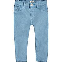 Mini girls bright blue skinny jeans