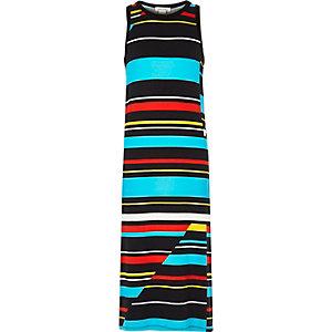 Girls blue stripe maxi dress