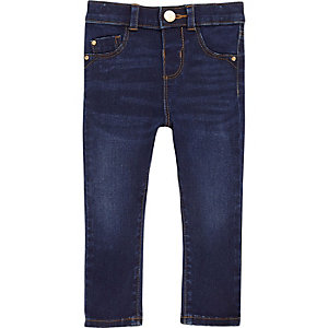 Blauwe wash skinny jeans voor mini girls