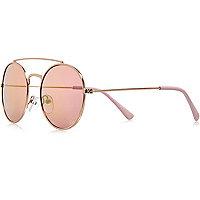 Lunettes de soleil roses avec barre supérieure pour fille