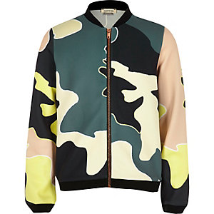 Girls camo bomber jacket