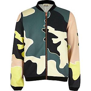 Girls camo bomber jacket