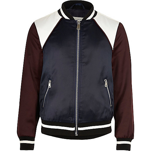 Girls red sporty bomber