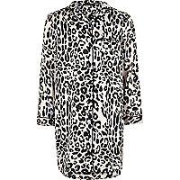 Robe de nuit imprimé léopard rose pour fille