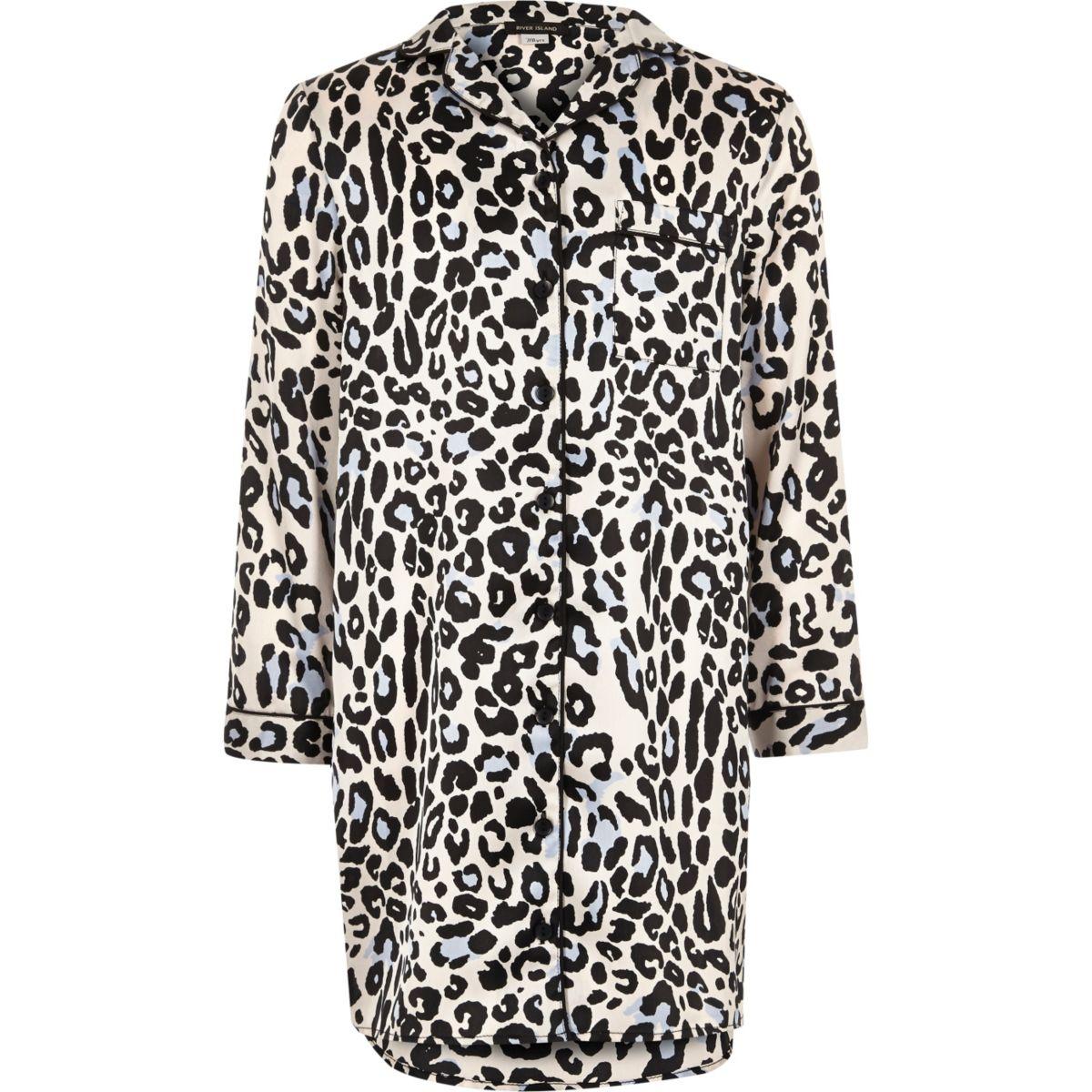 Girls pink leopard print night dress