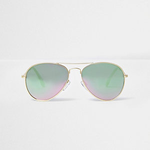 Girls pink aviator sunglasses