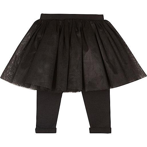 Mini girls black tutu legging combo