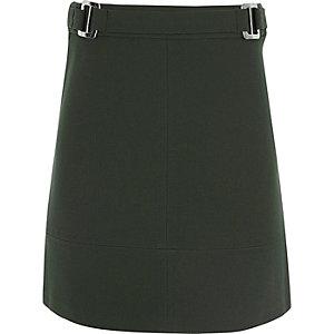 Girls khaki A-line skirt
