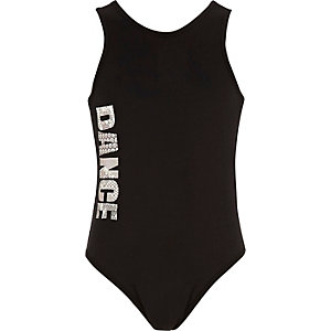 Girls RI Active black 'Dance' bodysuit