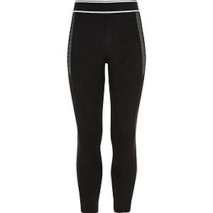 RI Active zwarte sportieve legging voor meisjes