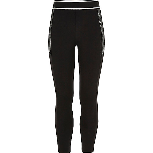 Girls RI Active sporty black leggings