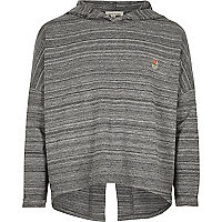Girls RI Active grey sports hoodie