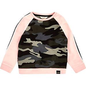 Pinkes Sweatshirt mit Camouflage-Muster