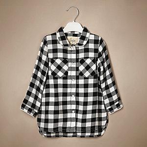 Mini girls gingham shirt