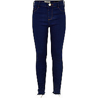 Girls dark blue stretch jeggings