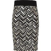 Girls black and gold tube skirt