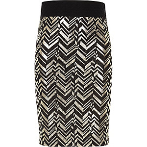 Girls black and gold tube skirt