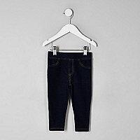 Mini girls dark denim look leggings