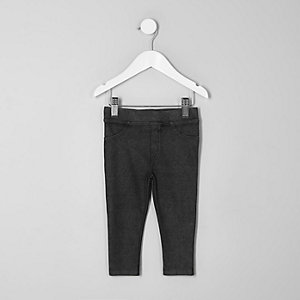 Mini girls dark grey leggings