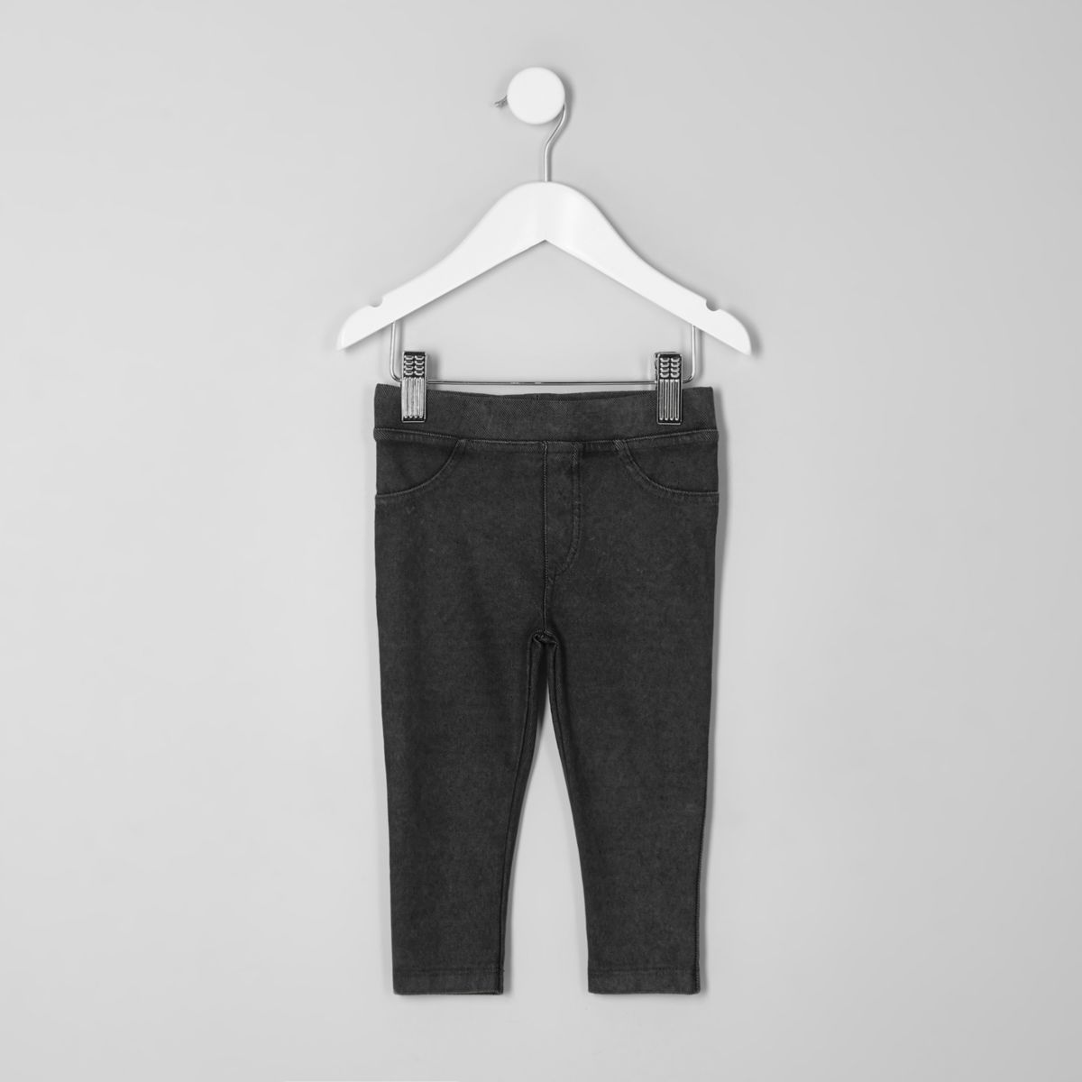 Mini girls dark grey leggings