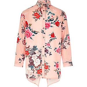 Roze overhemd met print voor meisjes