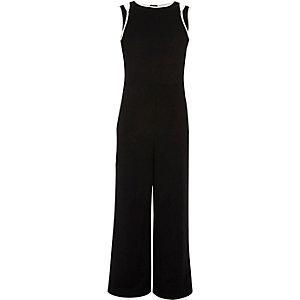 Zwart met witte jumpsuit voor meisjes