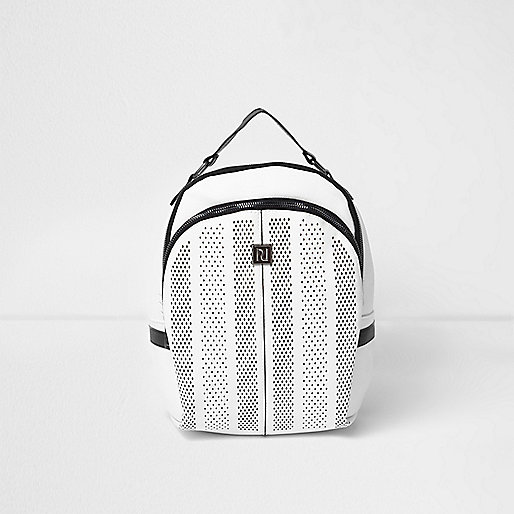 Girls white sports mesh backpack