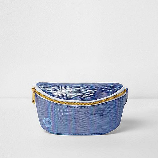 Girls blue Mi-Pac iridescent mermaid bum bag