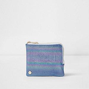 Blauwe Mi-Pac portemonnee met zeemeerminnenglans voor meisjes