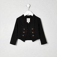 Veste noire style militaire pour mini fille