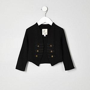Schwarze Military-Jacke