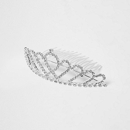 Girls silver embellished tiara