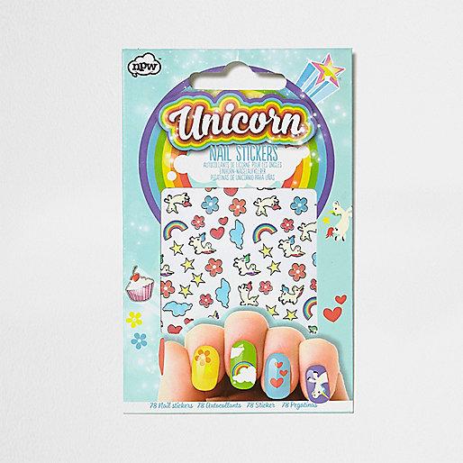 Girls Unicorn nail stickers