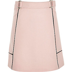 Girls pink A-line ponte skirt