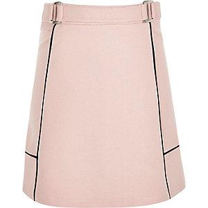 Girls pink A-line ponte skirt