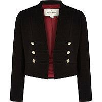Girls black military jacket