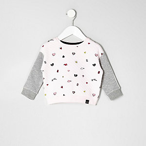 Mini girls pink doodle sweatshirt