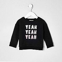 """Schwarzes Sweatshirt """"Yeah Yeah Yeah"""""""