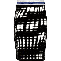 Girls black and white tube skirt