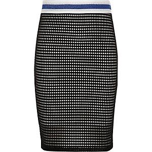 Zwart-witte superstrakke rok voor meisjes