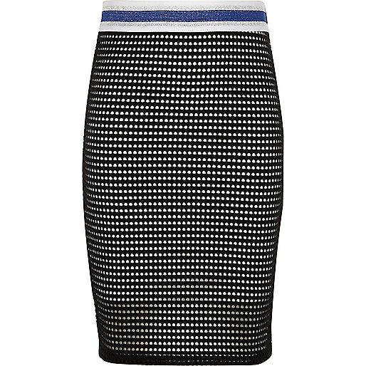 Girls black and white tube skirt