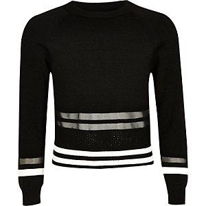 Sportlicher Pullover mit Mesh-Einsatz