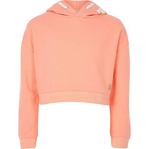 Girls RI Active coral 'Dance' sports hoodie