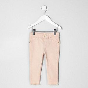Mini girls light pink skinny jeans