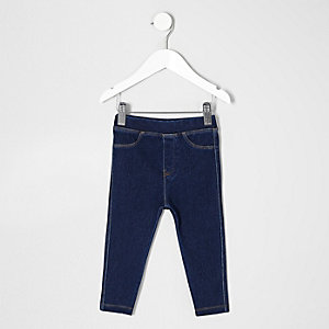 Mini girls dark blue jeggings