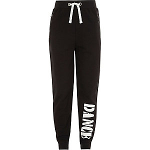 Girls RI Active black 'Dance' sports joggers