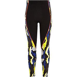 RI Active – Blaue Sportleggings mit Camouflage-Muster